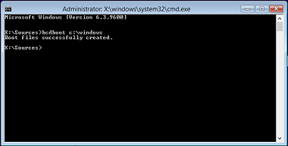 The boot configuration data file is missing some required information