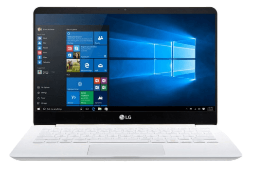 Ультрабук LG Gram работающий под Windows 10